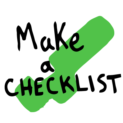 make a checklist