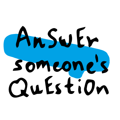 answer someone's question